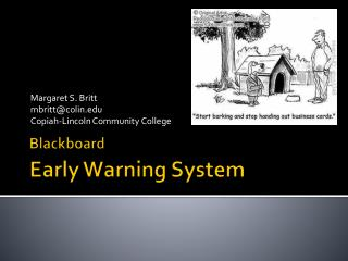 Blackboard Early Warning System
