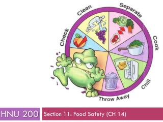 Section 11: Food Safety (CH 14)