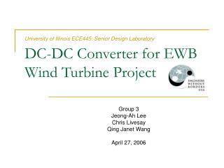 DC-DC Converter for EWB Wind Turbine Project