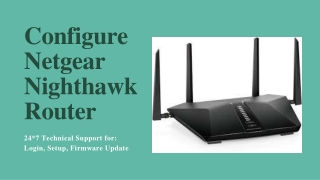 Netgear Nighthawk Router Login Process