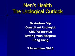 Men's Health The Urological Outlook