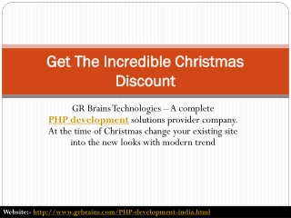 Get The Incredible Christmas Discount