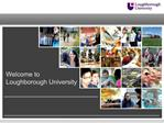 Welcome to Loughborough University