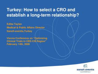 Turkey: How to select a CRO and establish a long-term relationship?