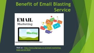 Benefit of Email Blasting Service