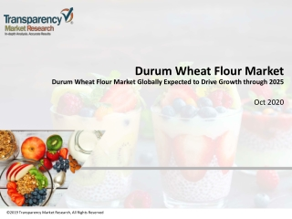 Durum Wheat Flour Market