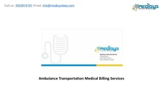 Ambulance Transportation Medical Billing Services