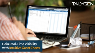 Gain Real-Time Visibility with Intuitive Gantt Charts