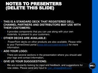 Notes to presenters (Delete this slide)