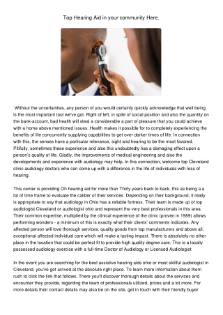 Top Hearing Aid in Your Community Here