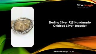 Sterling Silver 925 Handmade Oxisised Silver Bracelet