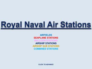 Royal Naval Air Stations