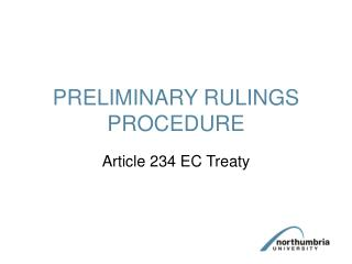 PRELIMINARY RULINGS PROCEDURE