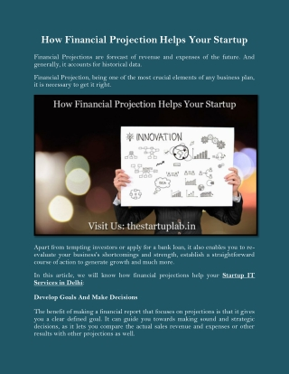 How Financial Projection Helps Your Startup