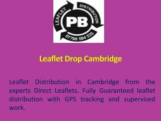 Leaflet Drop Cambridge