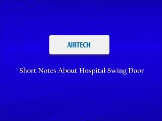 Hospital Swing Door Supplier