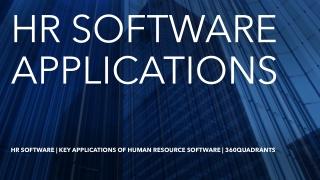 HR Software | Key Applications of Human Resource Software | 360Quadrants