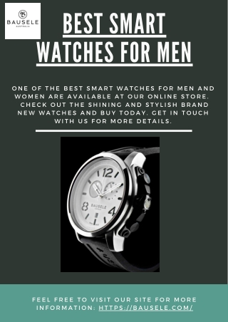 The Best Smartwatches for Men