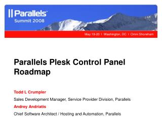 Parallels Plesk Control Panel Roadmap