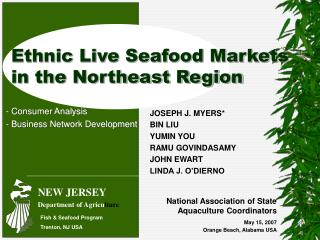 Ethnic Live Seafood Markets in the Northeast Region