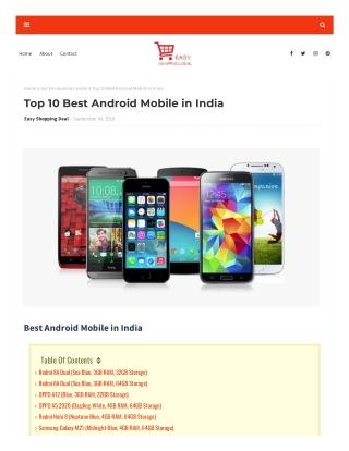 Top 10 Best Mobiles in India