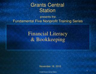 Financial Literacy  & Bookkeeping