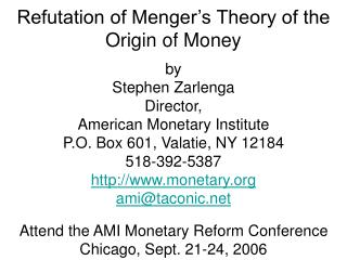 Failure of economics to properly define the nature of money. Still argued: What is the essence of money?