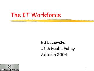 The IT Workforce