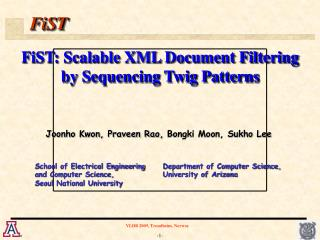 FiST: Scalable XML Document Filtering by Sequencing Twig Patterns