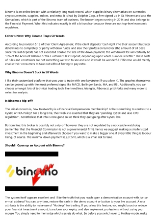 Binomo Testimonial