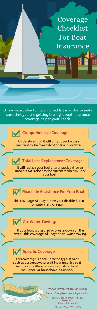 Coverage Checklist For Boat Insurance