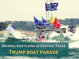 Several boats sink at Trump parade on Texas lake