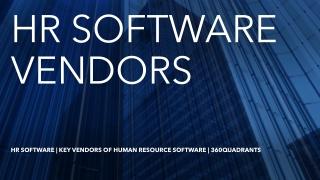 360quadrants Releases Quadrant on Best Human Resource Software Vendors