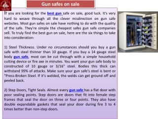 Gun safes on sale