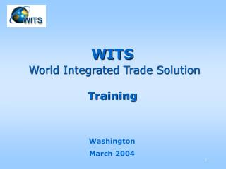 WITS World Integrated Trade Solution Training
