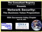 Network Security: The Business Value Proposition