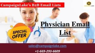 Physicians Email List | B2B Physicians Email Database Providers