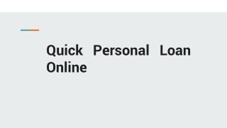 instant personal loan online