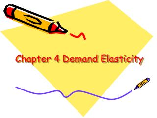 Chapter 4 Demand Elasticity
