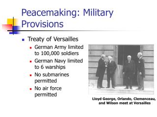 Peacemaking: Military Provisions