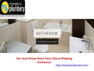 You must Know these Facts About Shipping Containers