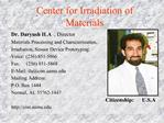 Center for Irradiation of Materials
