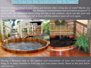 Northern Lights Cedar Tubs - Outdoor Hot Tubs