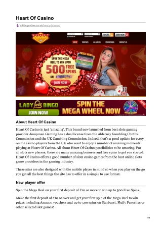 New Slot Site Heart Of Casino | Win Up To 500 Free Spins on Starburst!