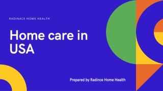 Home Care Services In USA - In Home Senior & Elderly Care