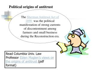 Political origins of antitrust