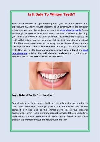 Is It Safe To Whiten Teeth?