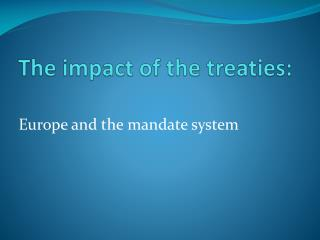 The impact of the treaties:
