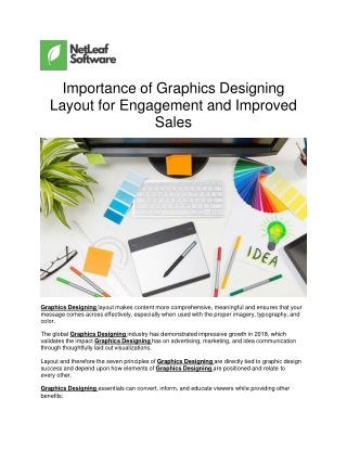 Importance of Graphics Designing Layout for Engagement and Improved Sales
