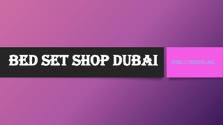 Bed set shop Dubai